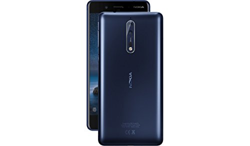 Nokia 8 TA-1052 64GB Tempered Blue, Dual Sim, 5.4', 4GB RAM, GSM Unlocked...