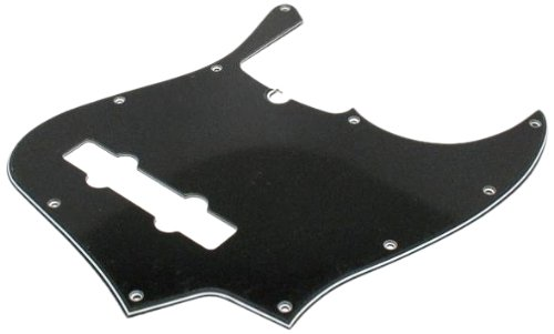 Fender Modern Pickguard, 5-String Jazz Bass, 10-Hole - Black 3-Ply