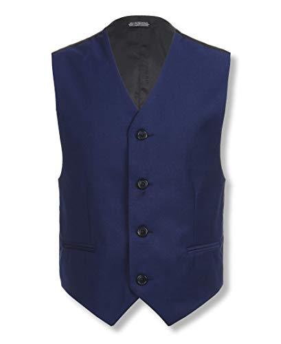 (Calvin Klein Boys' Big Solid Suit Vest, Infinite Blue, Small(8))