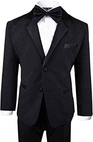 - Boys Tuxedo in Black Dresswear Set Size 6