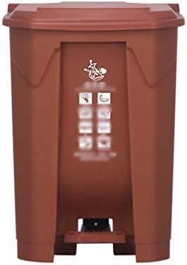 滑らかな表面 パーク分類ゴミ箱、ペダルタイププラスチックリサイクルビン地下鉄駅ストリートごみできる リサイクル可能なデザイン (Color : Brown, Size : 38*40*57CM)