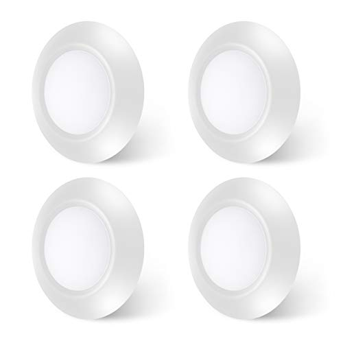 4-Pack White Dimmable LED Disk Light, SOLLA 7.5