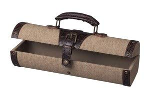STERLING 89-8015 Linen Travellers Trunk Bookends, 14-1/2 by 6-1/2-Inch, Chocolate ()