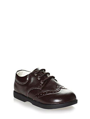 Paisley de Londres Motif chaussures Marron, marron, chaussures pour bébé garçon avec robe et chaussures pour bébé de 1