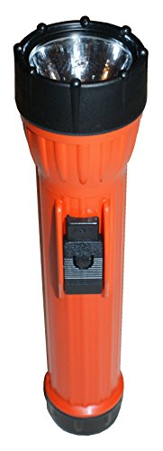 Bright Star 2124 Work SAFE 3 D Cell Incandescent Flashlight, 9000 CP, UL/CUL Class I, Division I, /ASTM & MSHA approved,  Orange ()