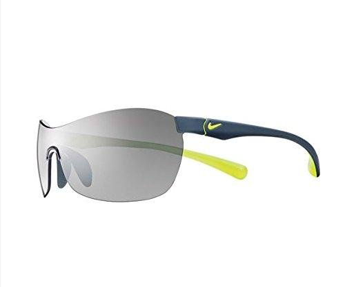 Nike EV0742-007 EXCELLERATE Sunglasses (One Size), Matte Dark Magnet Grey/Volt, Grey with Silver Flash - Lv Womens Sunglasses