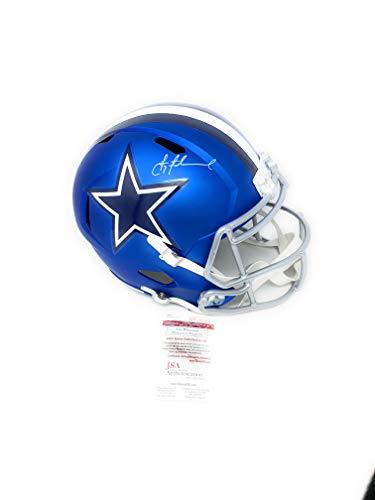 Troy Aikman Dallas Cowboys Signed Autograph Blaze Speed Full Size Helmet Aikman GTSM Holo JSA Witnessed Certified