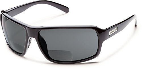 Suncloud Tailgate Polarized Bi-Focal Reading Sunglasses in Black w/Grey Lens +3.00 by Suncloud