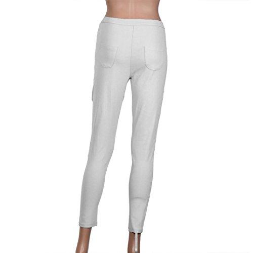 bleu XL blanc Xinantime Jeans bleu Femme Txzfa