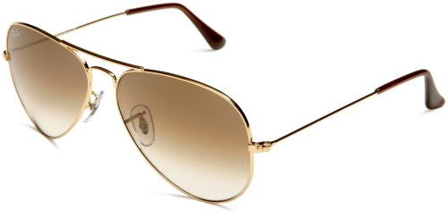 RayBan RB3025 001/51 Size 55 Gold/Crystal Brown Gradient - Sizes Sunglasses