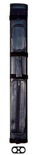 Action Vinyl Pool Cue Case (2 Butt and 2 Shaft), Black