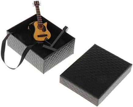Amazon.es: CUTICATE 1/12 Miniaturas Guitarra (con Estuche Y Soporte) Instrumentos Musicales Set De Colección, Adornos De Casa De Muñecas, Marrón Clásico: Juguetes y juegos
