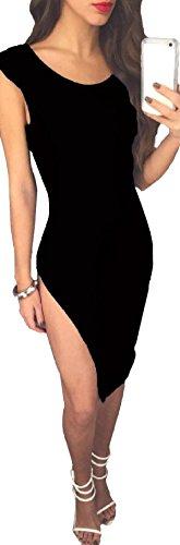 La Sra Discoteca Vestido Halter Atractivo Multicolor De Varios Tamaños Black