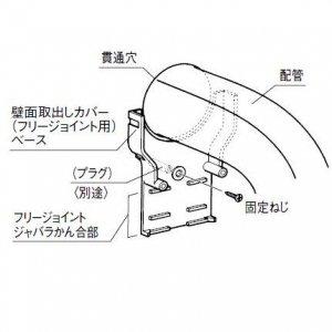 パナソニック 《スッキリダクト》 壁面取出しカバー(フリージョイント用) 80型 ホワイト DAS2801S