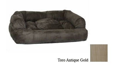 Large Snoozer 14158 Large Overstuffed Luxury Pet Sofa, Tgold Antique gold