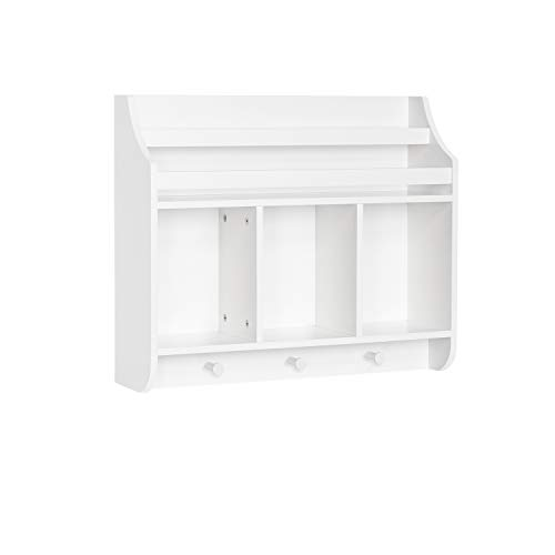 RiverRidge Home Book Nook Collection Kids Cubbies and Bookrack Wall Shelf, White