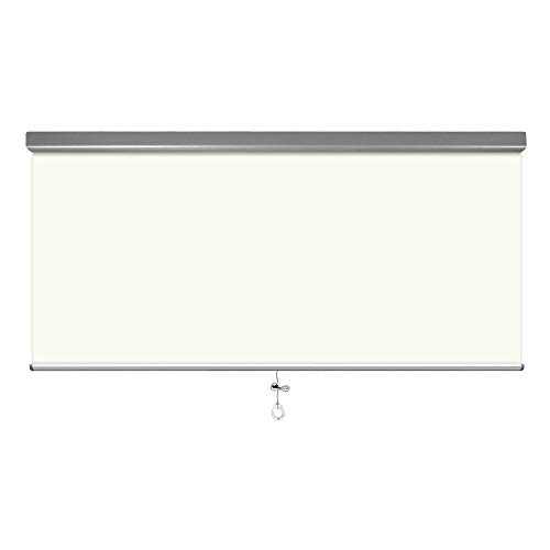 100% Blackout Roller Shade- Slow Rise Spring Cordless System Child Safety Blinds -Aluminum Valance Custom Shade -