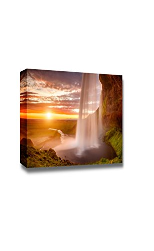 Beautiful waterfall Seljalandsfoss on the Iceland Home Deoration Wall Decor ing