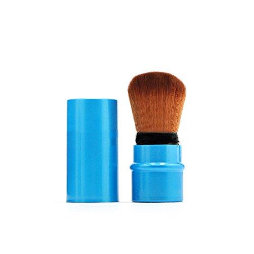 Foundation Powder Makeup Brush Set Gold Blush Cosmetics Brushes Blue