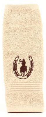 Western Moments Horseshoe Rider Wash - Rider Bath Towel Western