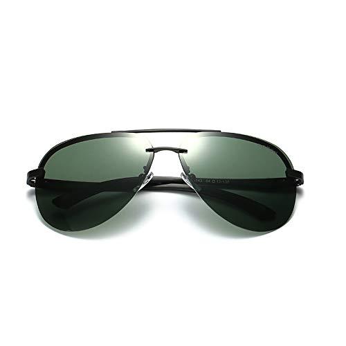 Green magnésium Gun Box en de Box Lunettes Black polarisées Soleil Sunglasses Nouvelles de Lunettes Aluminium Black Couleur Soleil Dames de Barbie Générique Powder Lunettes TgqPwax