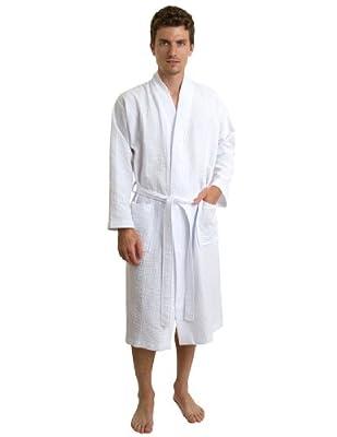 TowelSelections Men's Robe, Kimono Waffle Spa Bathrobe, Made in Turkey