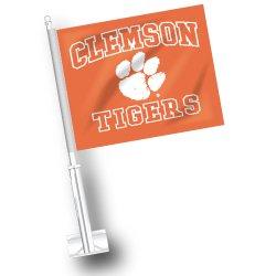 Tigers Car Flag Set - NCAA Clemson Tigers Car Flag Set of 2