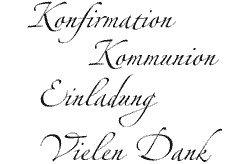 Motivstempel * Bilderstempel * Stempel * Kommunion / Konfirmation 4 Worte:  Konfirmation   Kommunion