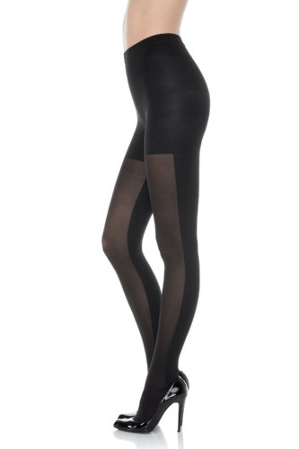 (SPANX Patterned Tight End Double Take Tights (1596) E/Black )