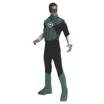 Best Green Lantern Costume (Deluxe Muscle Chest Green Lantern Adult Costume - Large)