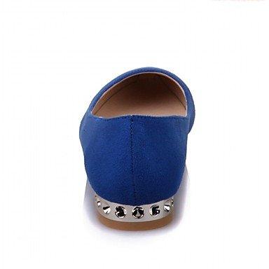 Cómodo y elegante soporte de zapatos de las mujeres pisos primavera verano otoño invierno comodidad diseño PU Sintético Piel Sintética boda oficina y carrera fiesta y noche azul