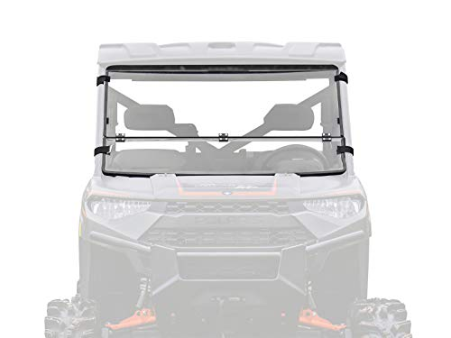 (SuperATV Heavy Duty Flip/Fold Down 3-IN-1 Windshield for Polaris Ranger Full Size XP 900 / Crew (2013+) - Clear Standard Polycarbonate (Non Hard Coated))
