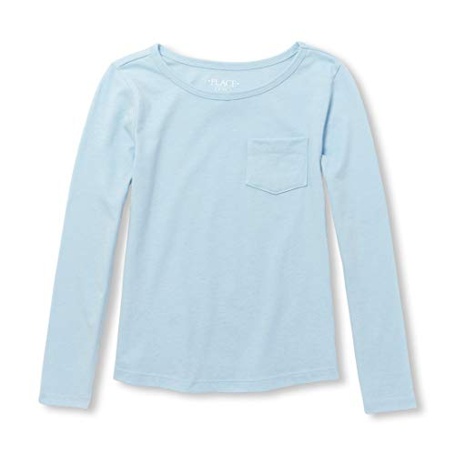 The Children's Place Big Girls' Long Sleeve Tshirt with Pocket, Cosmic Light, L ()