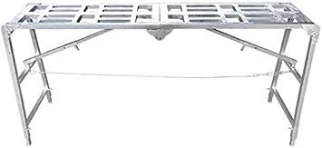 WLG Escalera de mano, Escaleras Plegable multifunción Hogar Taburete de caballo para andamio Andamio Levante la caída Escalera en espiga portátil Decoración Plataforma de ingeniería Escalera recta,18: Amazon.es: Bricolaje y herramientas