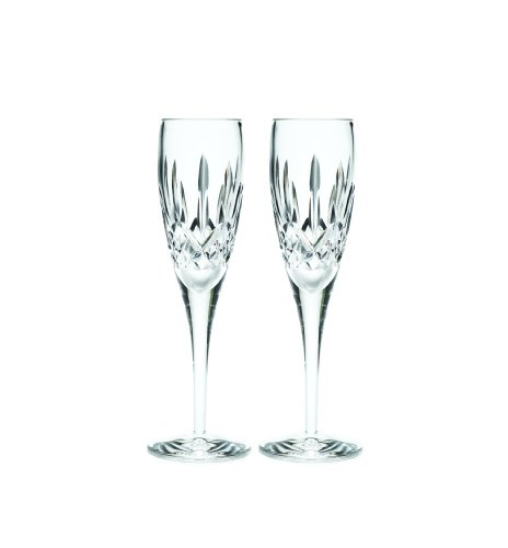 Waterford Lismore Nouveau Champagne Flute Pair, 7-Ounce by Waterford  Crystal