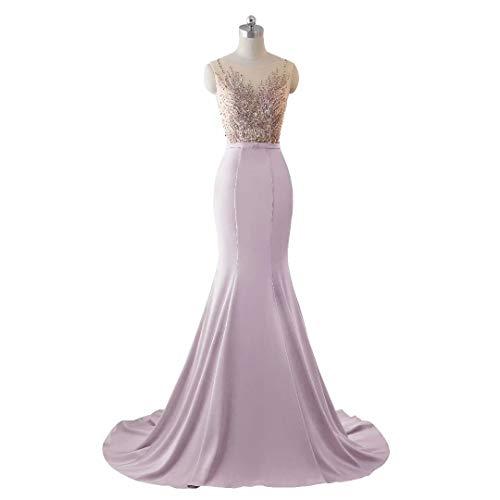 Hell Spitze Pailletten Lange Frauen Meerjungfrau Brautkleid Stickerei Love Abendkleid pink King's Formale wvqTx6nB7