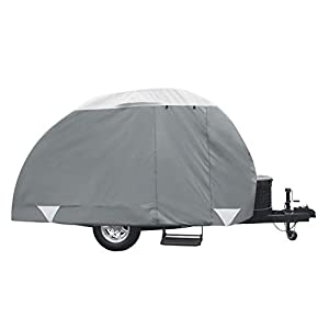 Classic Accessories Over Drive PolyPRO3 Deluxe Teardrop Trailer Cover, Fits 10′ – 12′ Tab & Clamshell Trailers (80-298…