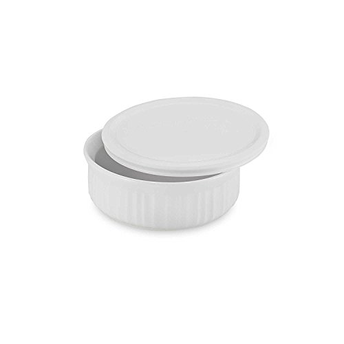 Covered Quart 1 Round Casserole - CorningWare French White 1-1/2-Quart Covered Round Dish with Plastic Lid