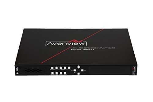 Advanced Quad Screen MultiViewer with Front Panel , RS232 and IR (S-video Over Cat5)