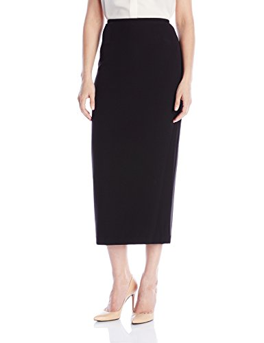 Kasper Women's Stretch Crepe Column Skirt, Black, 14 (Kasper Black Crepe)