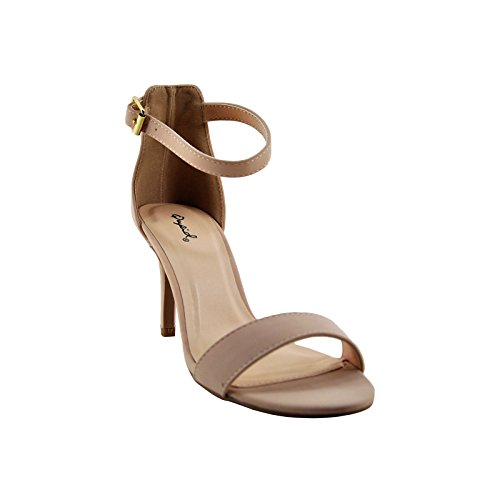 Qupid Traditional Women's Cullen12 Heel Strap Nude Ankle q61zwFrq