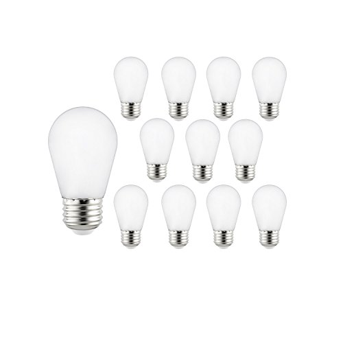 Sunlite 41029-SU LED S14 String Light Bulb, 12 Pack, Frosted