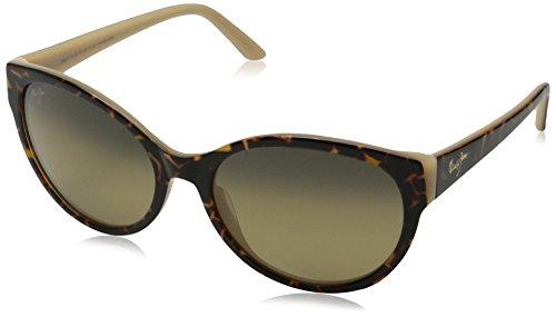 Maui Jim Venus Pools Polarized Sunglasses - Women's Dark Tortoise / Bone / HCL Bronze One - Round Sunglasses Best For Maui Jim Faces
