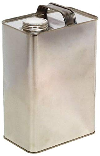 Made in USA - 1/8 Gallon Rectangular Tin Can 9 Cans per Pack - 9/Case