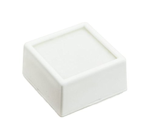 100 Gem Jars - White Square Glass Top with 2-Sided Foam Insert Gemstones Jewelry Display