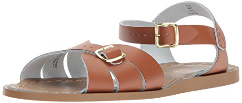 Girls Classic Flat (Salt Water Sandals by Hoy Shoe Girls' Salt Water Classic Flat Sandal, tan, 6 W8 M US Big Kid)