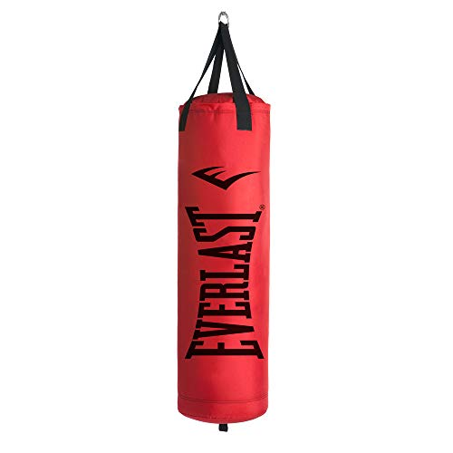 Everlast P00001270 80LB Heavy Bag Heavy Punching Bags, Red/Black,