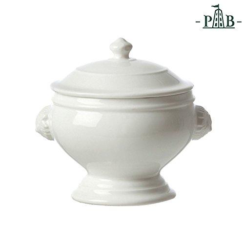 La Porcellana Bianca Soup Tureen Bowl with Lion Head Embossment - 22 cm by La Porcellana Bianca