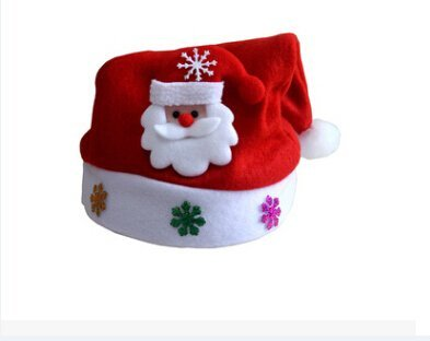 Gome-z Hot Kids Adult LED Christmas Hat Santa Claus Reindeer Snowman Xmas Gifts Cap adult 37x29cm -