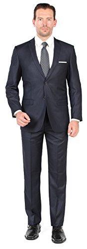 Tazio Mens 2 Button 2 Piece Slim Fit Suit 38L Navy